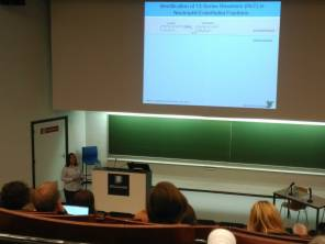 Ms Mary Walking presenting at the 7th European Workshop on Lipid Mediators