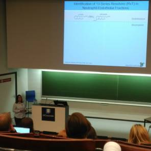 Ms Mary Walking presenting at the 7th European Workshop on Lipid Mediators