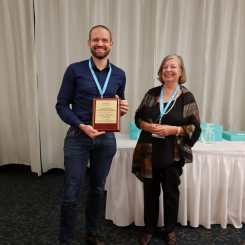 Dr Romain Colas's Santosh Nigam Outstanding Young Scientist Award