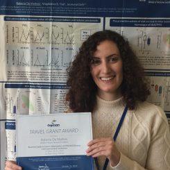 Ms Roberta De Matteis and the Cayman Chemical Travel Award
